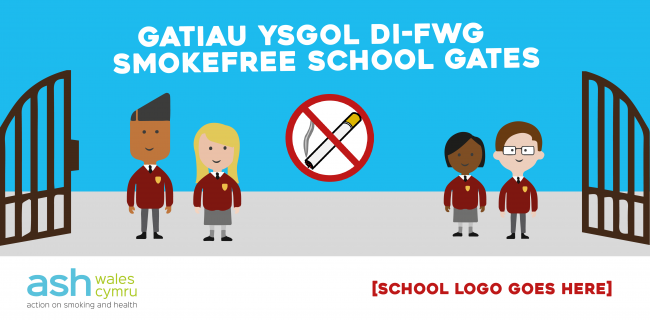 smokefree schoolgates social media graphics