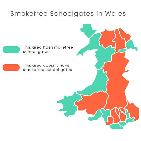 smoking schools wales