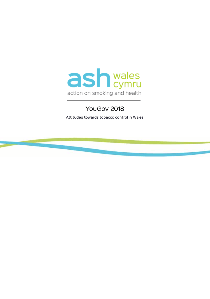YouGov 2018 - Attitudes towards tobacco control in Wales