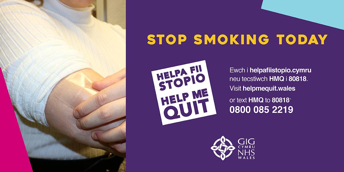 Help me quit, stop smoking wales